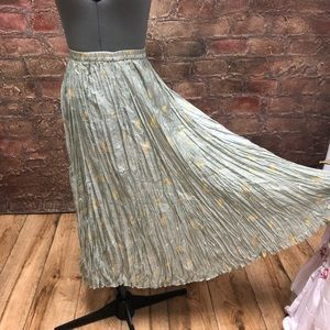 Vintage 100% silk maxi skirt
